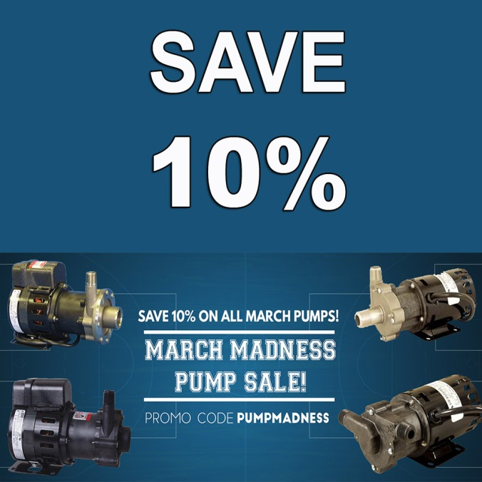 Save 10% On March Home Brewing Pumps at MoreBeer.com With Promo Code