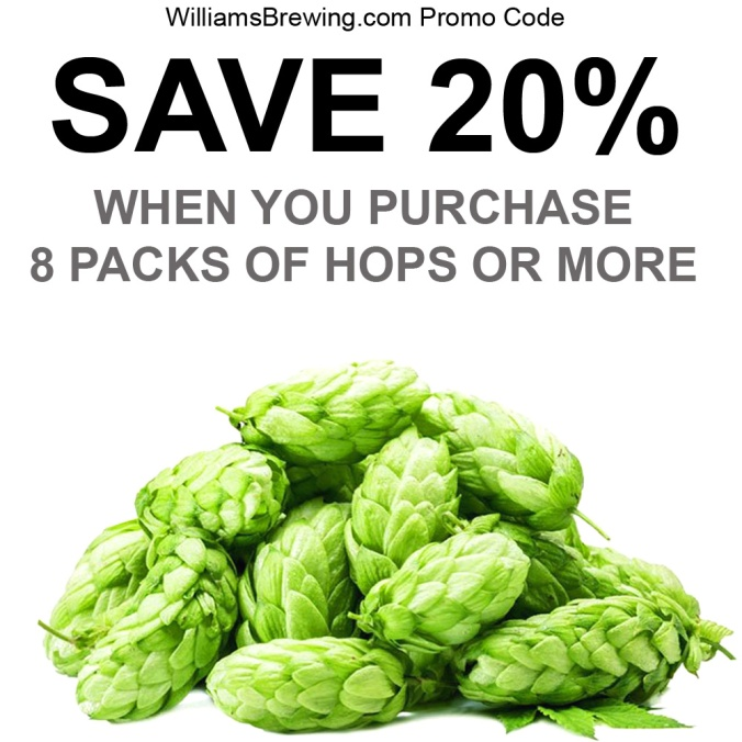 Save 20% On Hops When You Purchase 8 Packs Or More