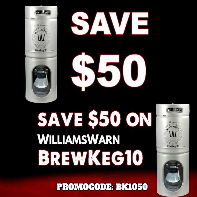 Save $50 On A Williams Warn Brew Keg 10