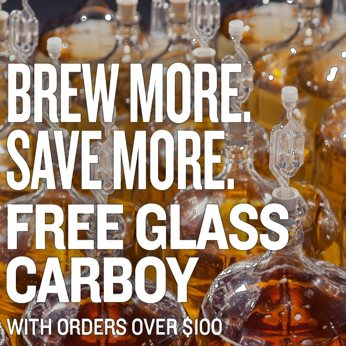 Get A Free Glass Carboy On Orders Over $100 With NorthernBrewer.com Promo Code