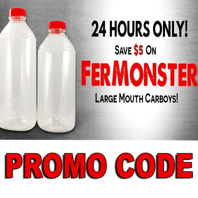 Save $5 On Wide Mouth Fermonster Home Brewing Carboys With This MoreBeer.com Promo Code