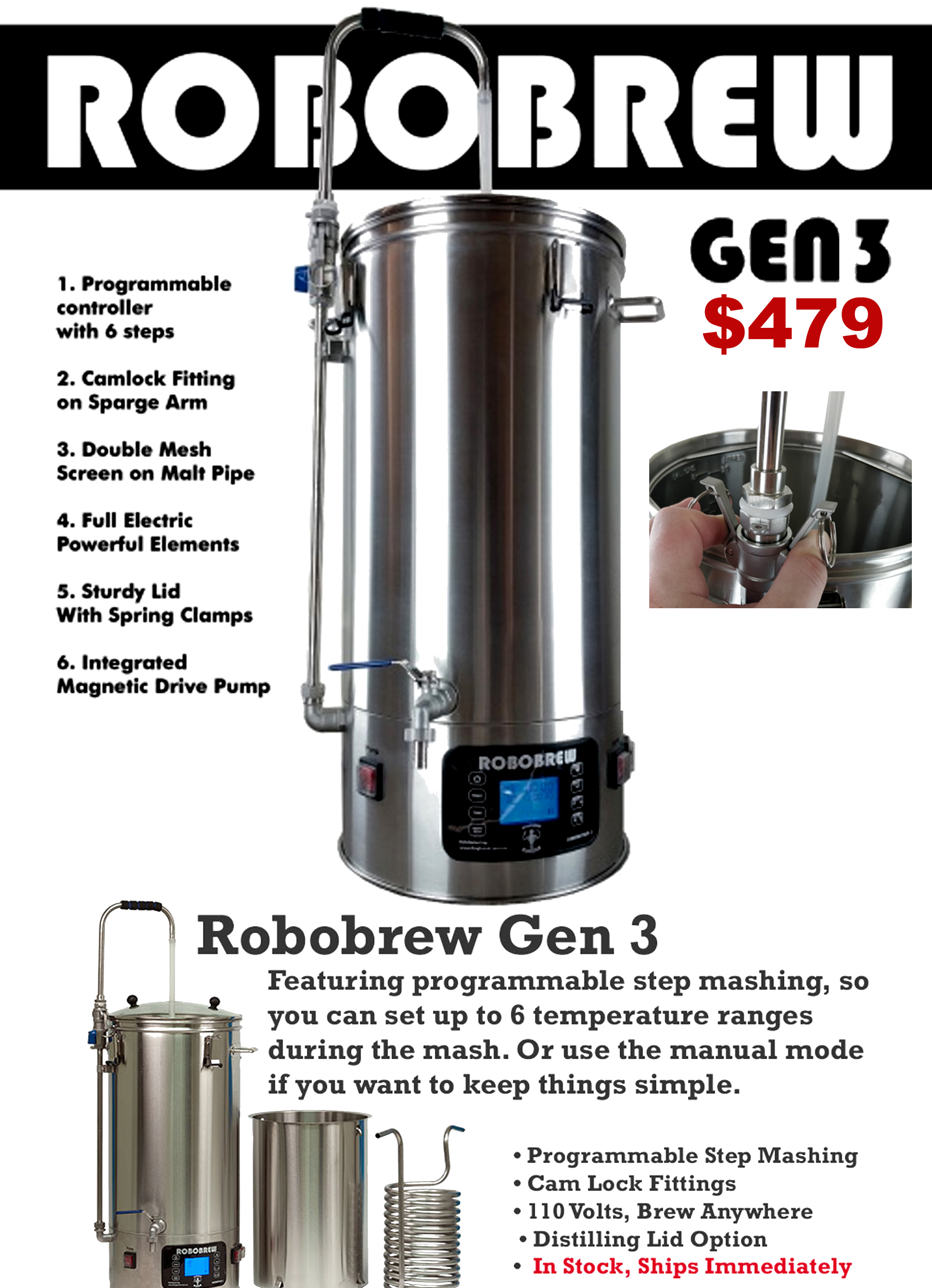 The RoboBrew Generation 3 Home Brewing System Is Now In Stock ...