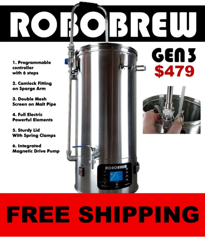 Get FREE SHIPPING On A New RoboBrew v3 Home Brewing System