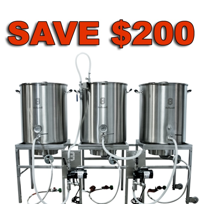 Save $200 On A Stainless Steel Home Brewing System While Supplies Last