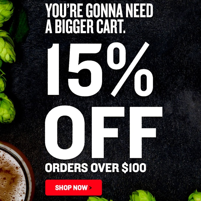 Save 15% On Order of $100 Or More With Northern Brewer Promo Code