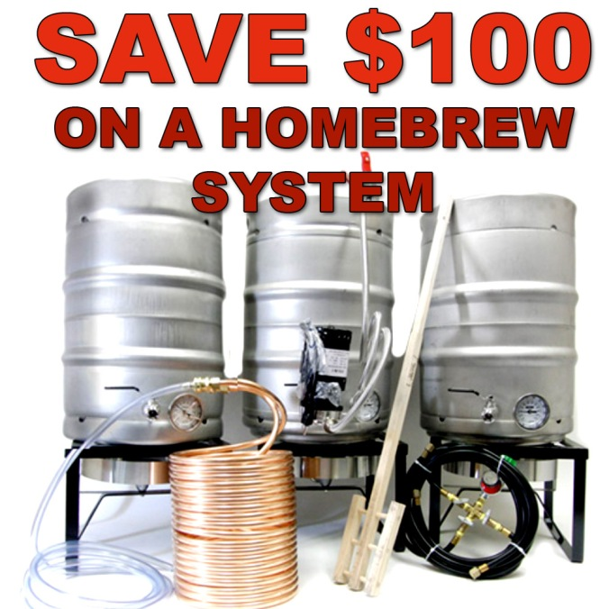 Save $100 On A New All Grain Home Brewing System