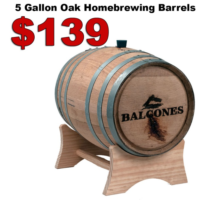 5 Gallon Oak Home Brewing Barrels, Previously Used for Whiskey for Just $139