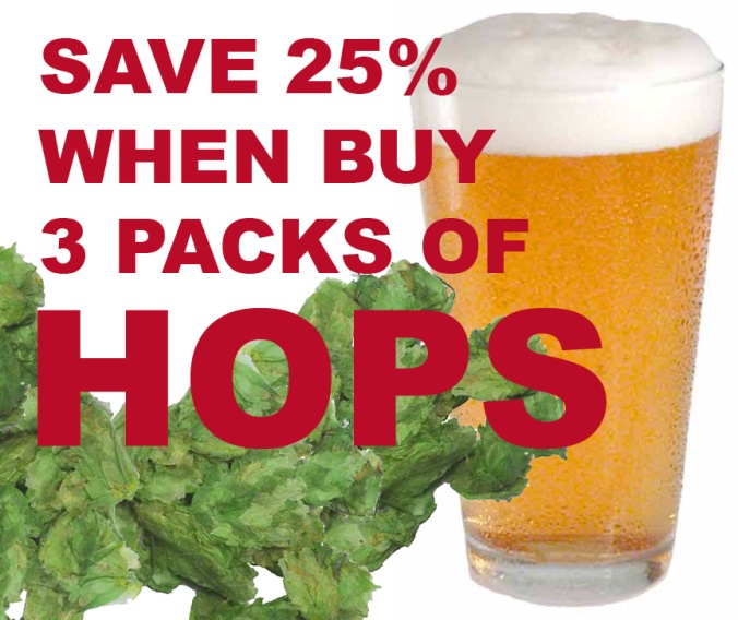 Save 25% On Domestic Hops When You Purchase 3 Packs!