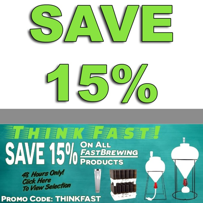 Save 15% On Fast Brewing Products At MoreBeer With Coupon Code