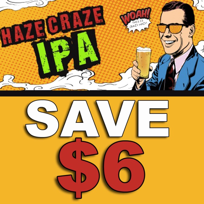Save $6 On A MoreBeer.com Haze Craze, Hazy IPA Home Brewing Kit