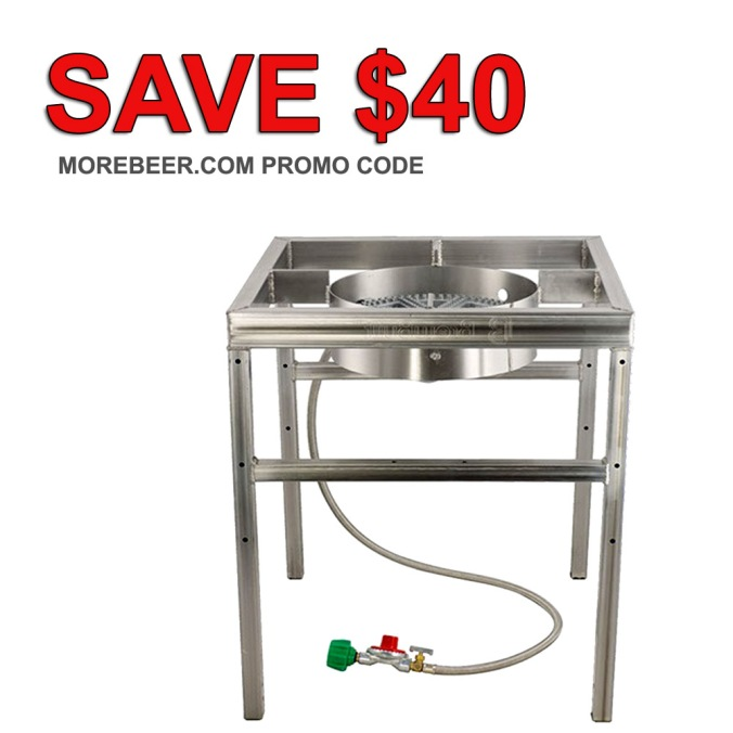 MoreBeer.com Promo Code - Stainless Steel Home Brewing Stand & Burner #homebrew #homebrewing #morebeer