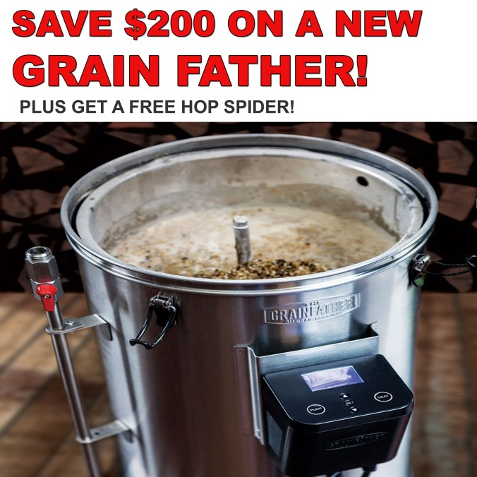 WilliamsBreweing.com Promo Code - GrainFather Promo Code - Save $200 On A Grain Father Plus Get A Free Hop Spider #grainfather #promo #code #home #brewing