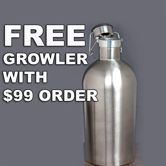 WilliamsBrewing.com Promo Code - Get A Free Stainless Steel Growler With A $99 Purchase