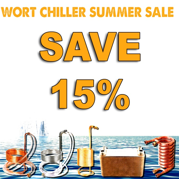 MoreBeer.com Promo Code for 15% Off Homebrewing Wort Chillers