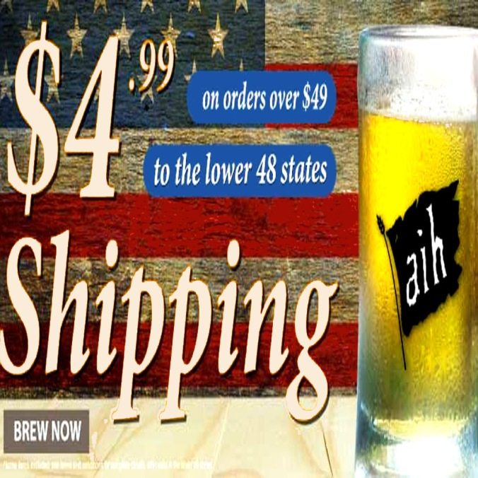 Get $4.99 Flat Rate Shipping Adventures In Homebrewing Promotion