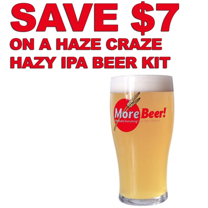 MoreBeer.com Promo Code for $7 Off A Haze Craze Hazy IPA Beer Kit