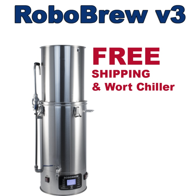 Get FREE Shipping & A Free Wort Chiller With A NEW RoboBrew 3 Purchase