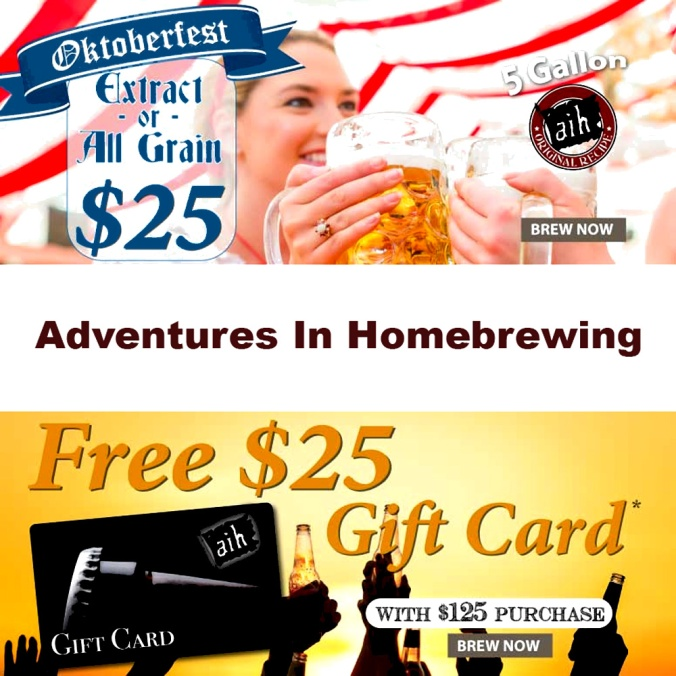 Adventures In Homebrewing Promo Code for August 2018