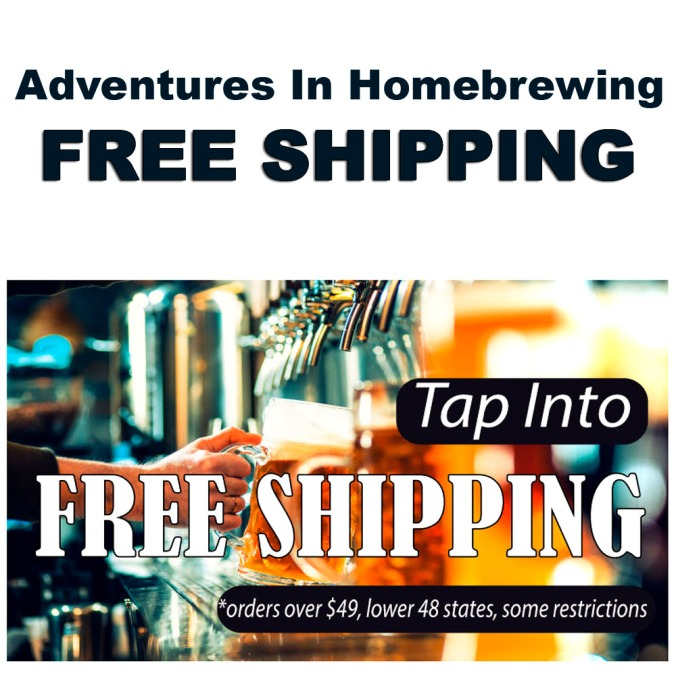Adventures in Homebrewing Free Shipping Promotion