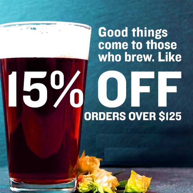 Northern Brewer Promo Code for 15% Off On A $125 Purchase