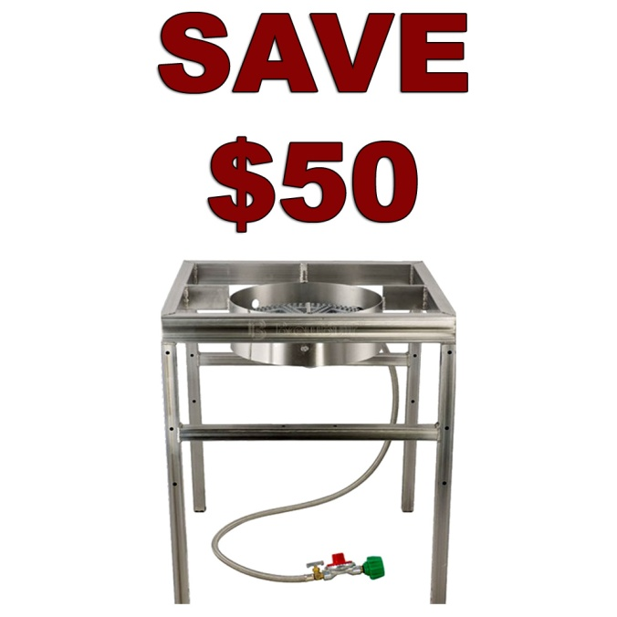Save $50 On A Stainless Steel Home Brewing Burner
