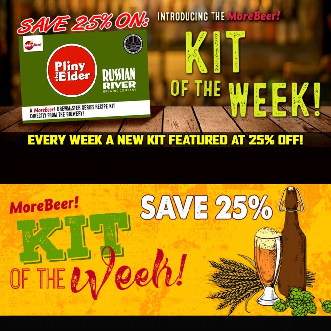 Save 25% On Pliny the Elder All Grain and Extract Home Brewing Beer Kits at MoreBeer.com With Promo Code