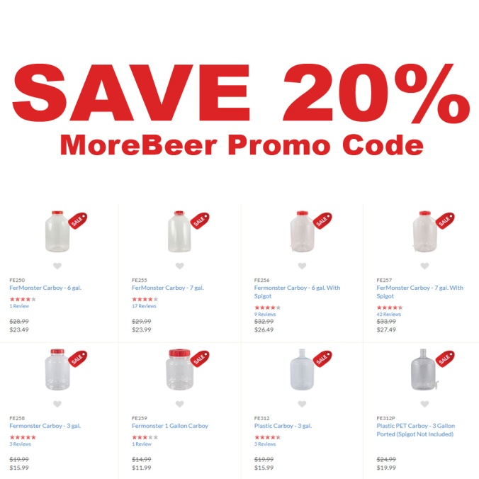 Save 20% On Select Carboys At MoreBeer.com