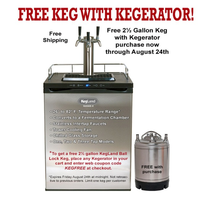 Get a FREE Keg With The Purchase of a Kegerator