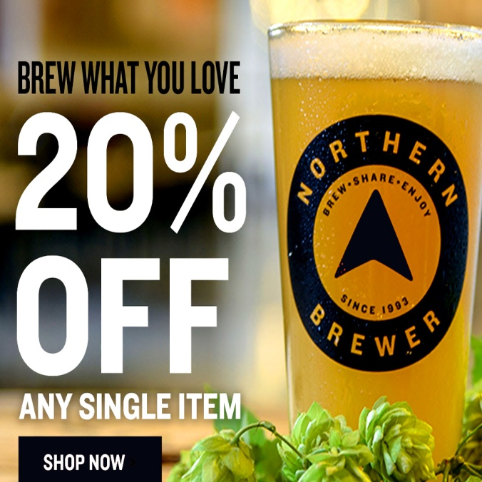 Save 20% On A Single Item At NorthernBrewer.com With Promo Code