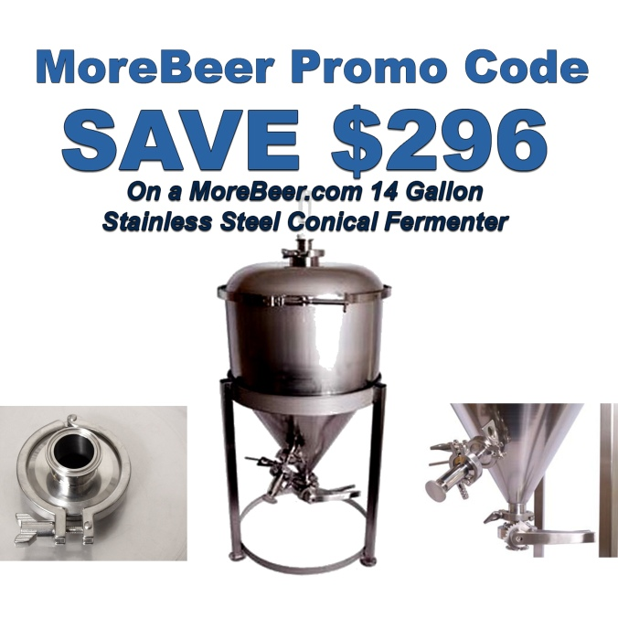 MoreBeer Stainless Steel Conical Fermenter