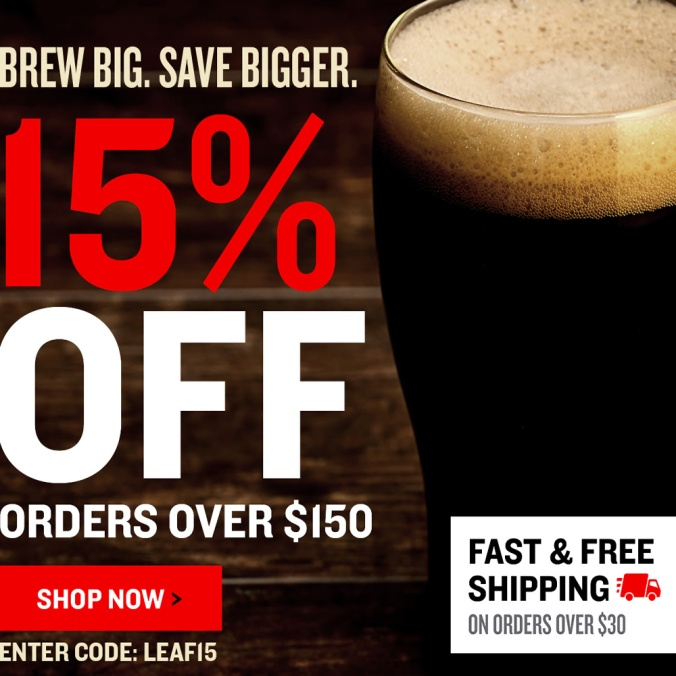 NorthernBrewer.com Promo Code - Save 15% Off Of An Order Over $150