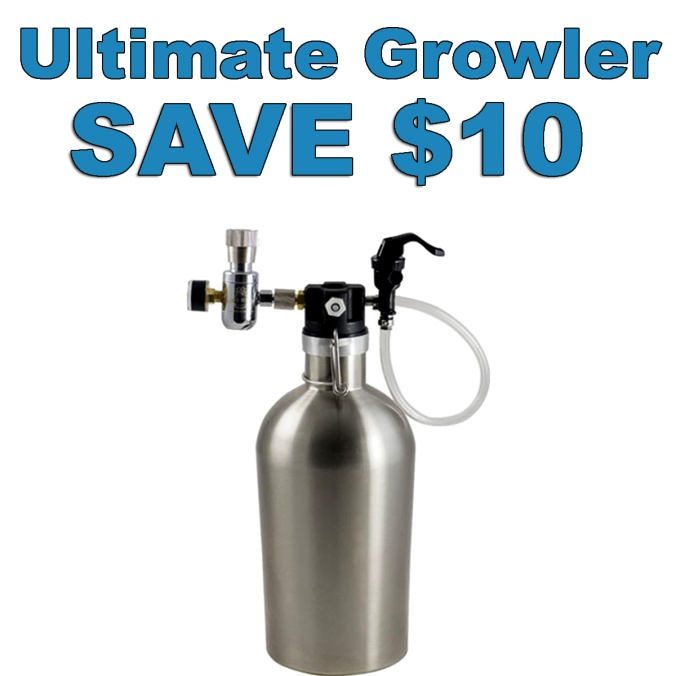 Get the MoreBeer Ultimate Stainless Steel Growler For Just $74