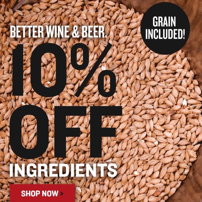 Save 10% On Home Brewing Ingredients