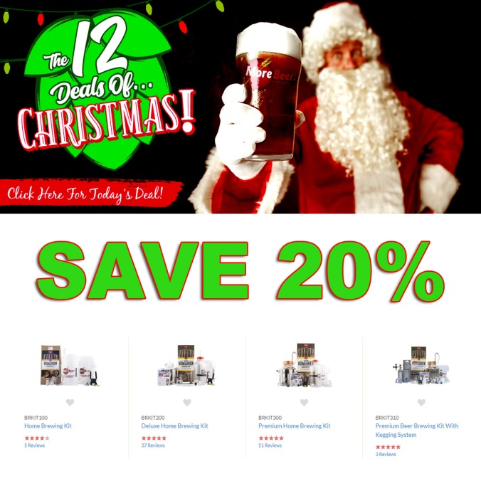 Christmas Promo Code for MoreBeer.com - Save 20% On Home Beer Brewing Kits