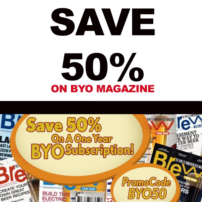 Save 50% On Brew Your Own Magazine for Home Beer Brewers