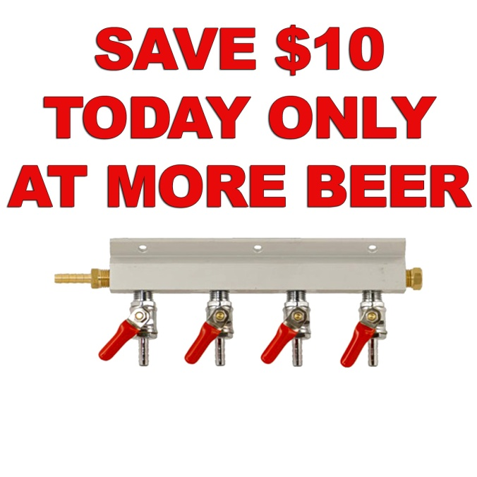 More Beer Promo Code For $10 Off A New CO2 Manifold