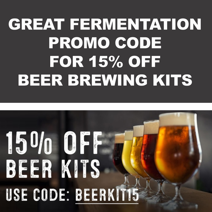 Save 15% On Beer Kits with this GreatFermentations.com Promo Code