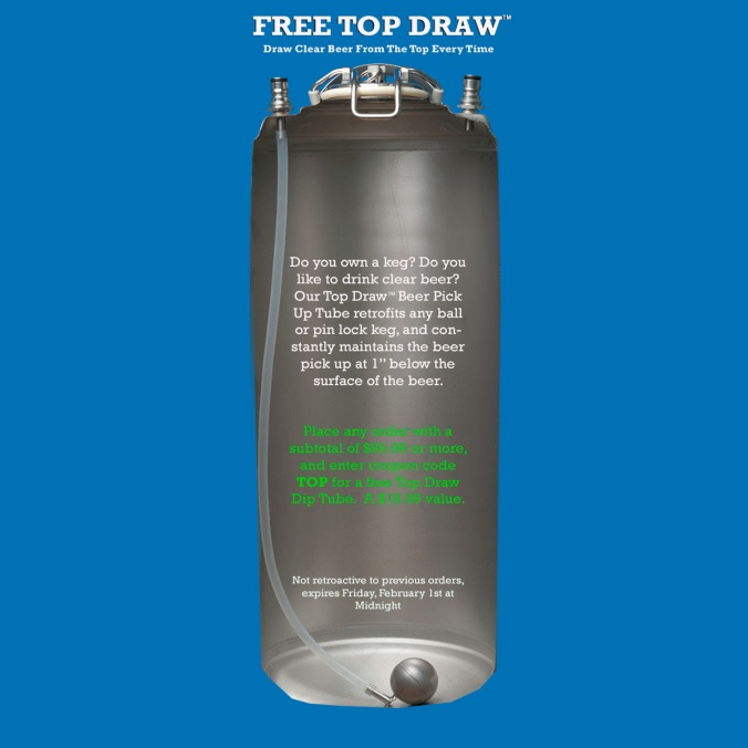 WilliamsBrewing.com Coupon for a Free Keg Floating Dip Tube