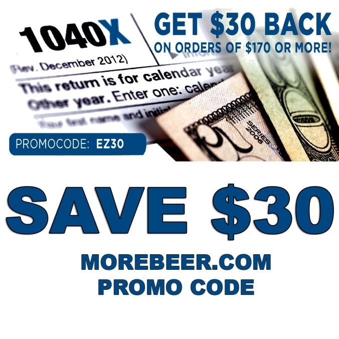Use this MoreBeer.com Promo Code and Save $30 On Your Purchase!