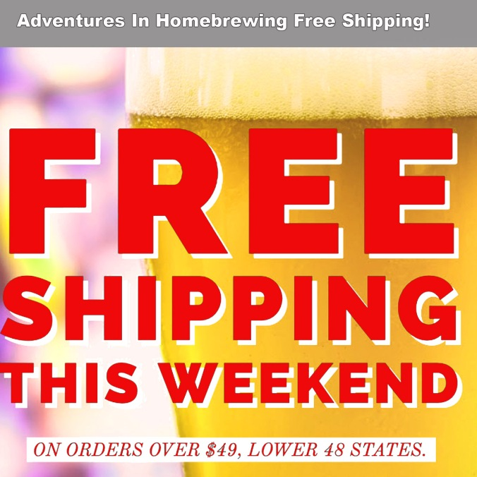 Free Shipping Promotion at Adventures in Homebrewing and Homebrewing.org