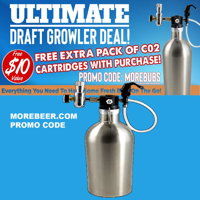 More Beer Promo Code for Free CO2 Cartridges