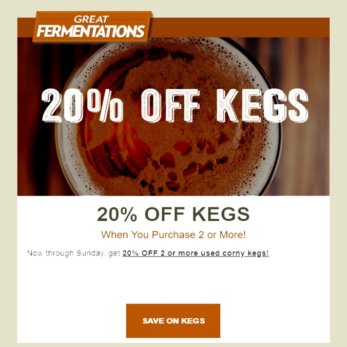 Save 20% On Home Brewing Kegs With This GreatFermentations.com Promo Code