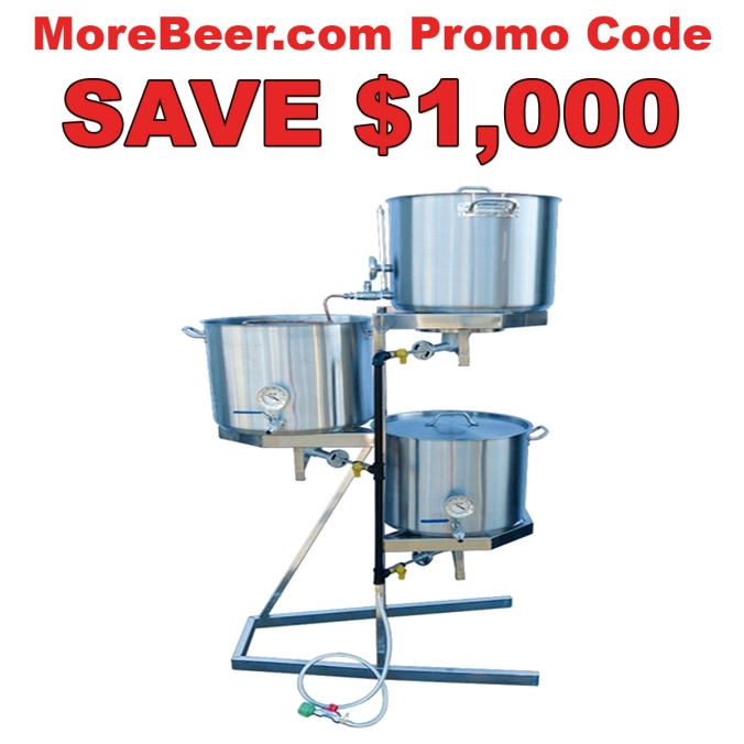 MoreBeer Promo Code For A All Grain Stainless Steel Home Brewing Systems - Save $1000
