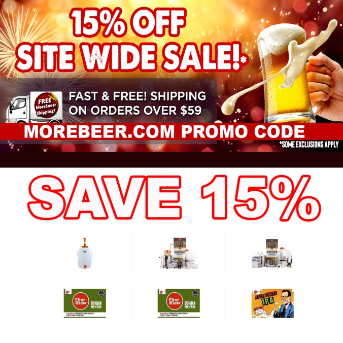 Save 15% On Your MoreBeer.com Purchase!