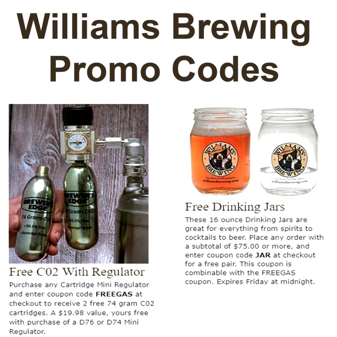 Williamsbrewing.com Promo Codes for March