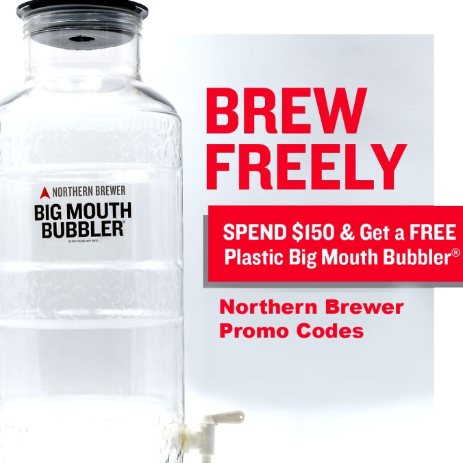 Get a Free Wide Mouth Fermenter at NorthernBrewer.com with this Northern Brewer Promo Code