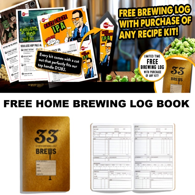 Get a Free Home Brewing Log Book with this More Beer Coupon Code