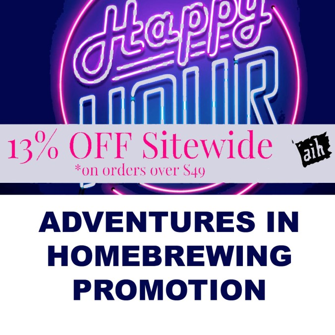 Memorial Day Sale, Save 13% At Adventures In Homebrewing