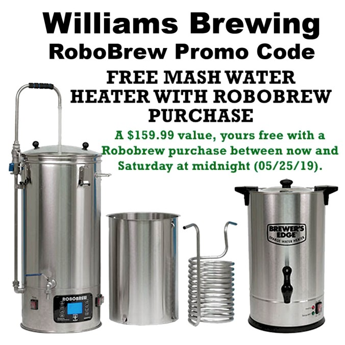 RoboBrew Promo Code Get A Free Water Heater