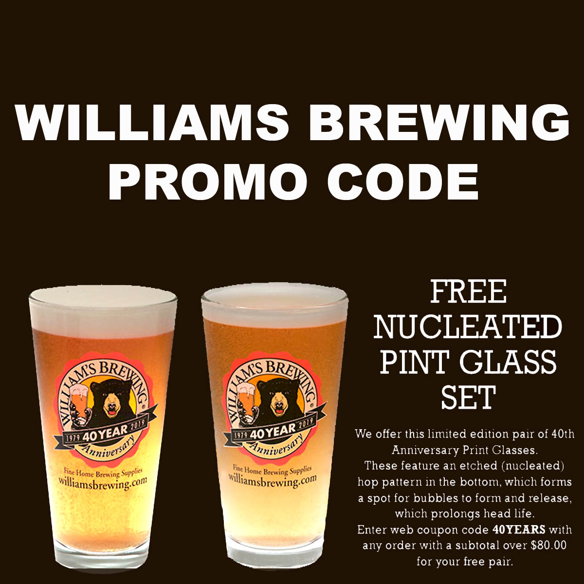 Williams Brewing Promo Code Free Pint Glasses